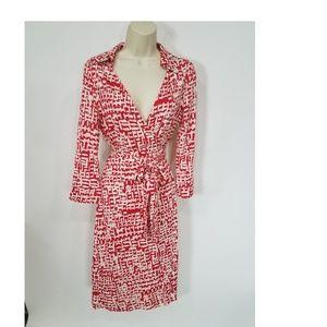 Diane Von Furstenberg Vtg Justin Silk Wrap Dress 8
